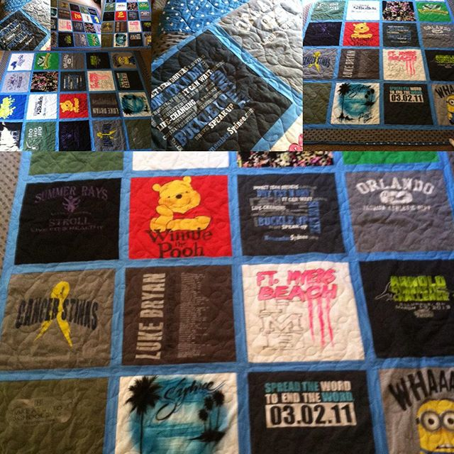 So grateful to receive this beautiful quilt made from Sydnee's t-shirts! Buckle up - Dnt txt n drv - give life ! #rememberSydnee