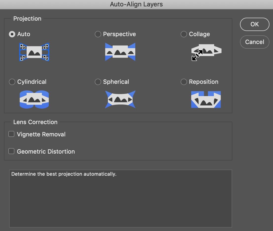 Auto-Align Layers Pop-up