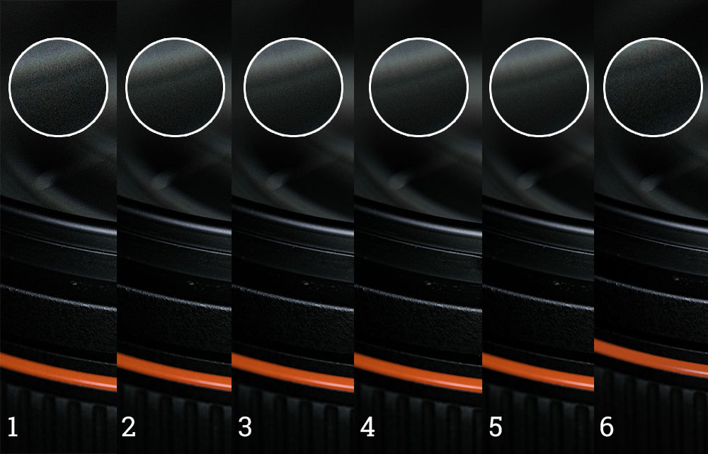 Comparing results of different noise reduction modes and techniques of pictures what at 25600 ISO