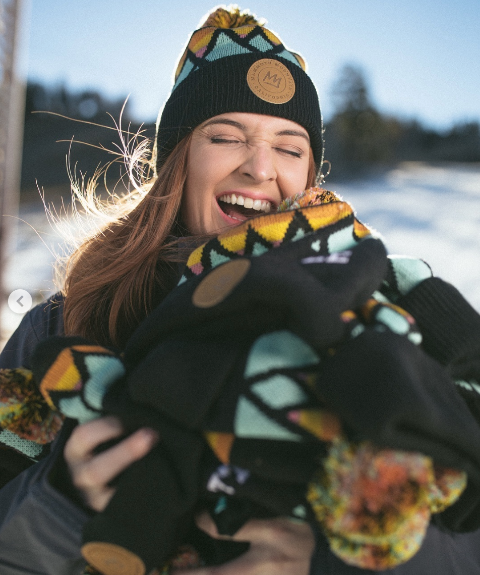 Mammoth Mountain Beanie by Graphic Designer Perspektiiv Design Co. in Lake Tahoe