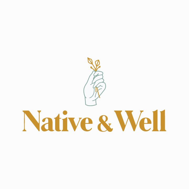 Native & Well Logo Design by Perspektiiv Design Co. in Portland, Oregon