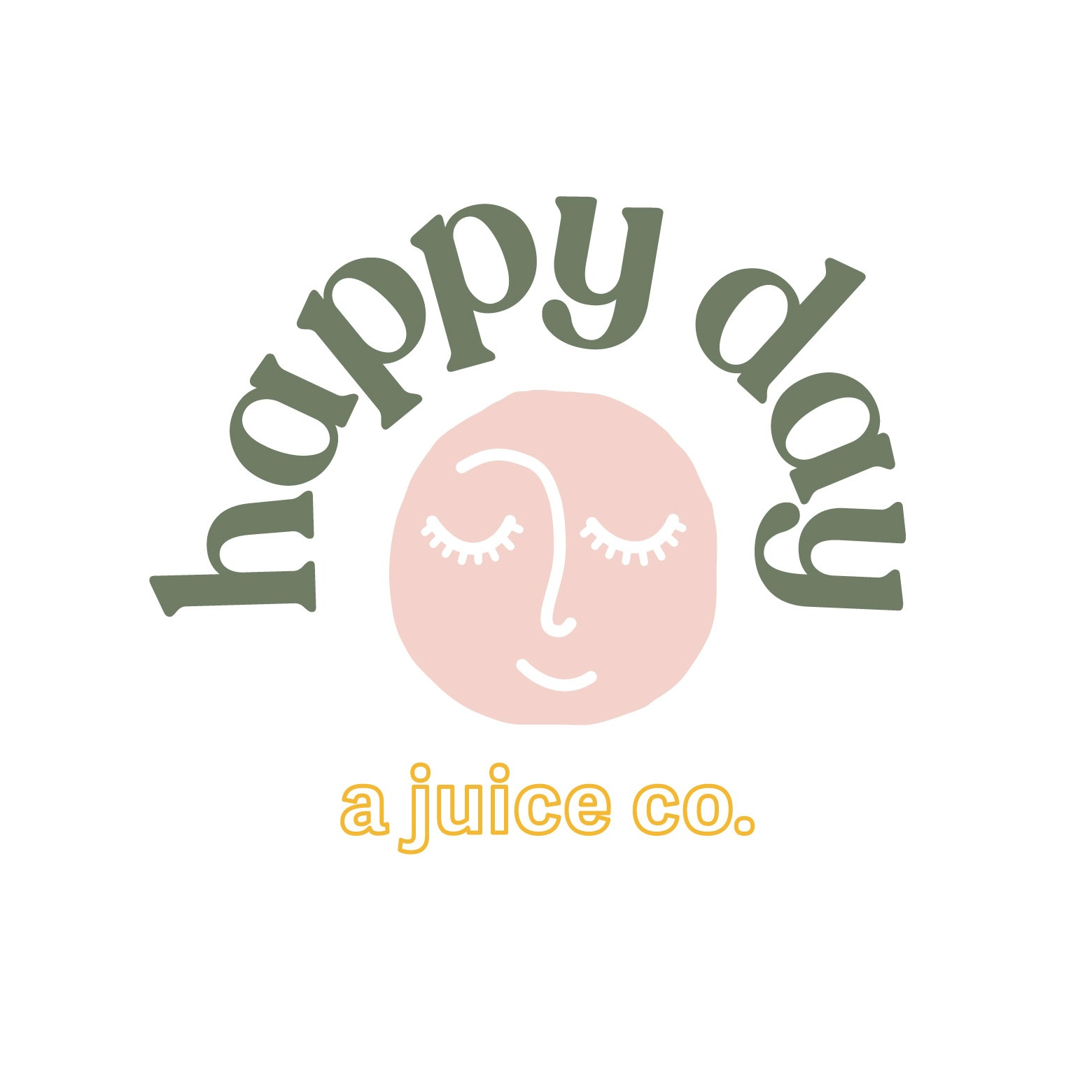Happy Day Juice Co. Juice Bar Logo Design by Perspektiiv Design Co.