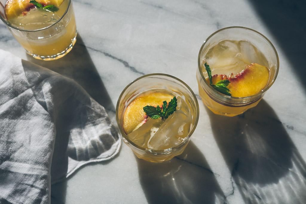 bourbon-peach fizz // millys-kitchen.com
