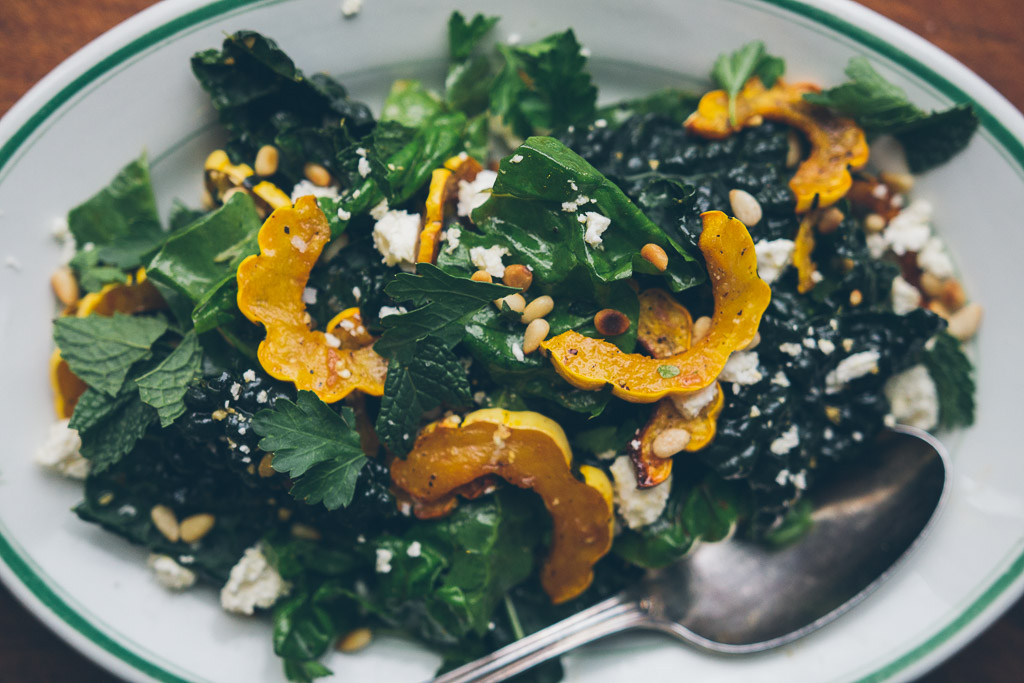 swiss chard and squash salad // millys-kitchen.com
