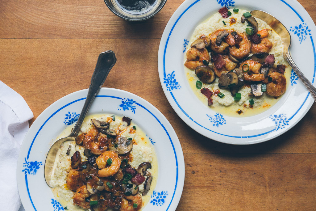 shrimp and cauliflower grits on millys-kitchen.com