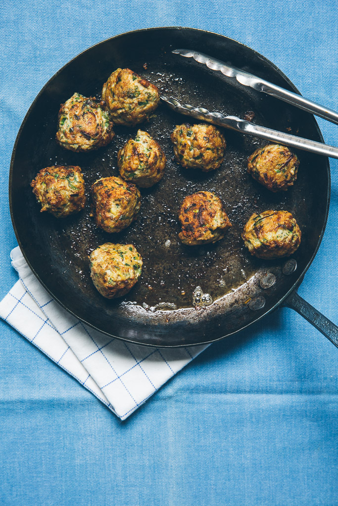 zucchini and chicken meatballs on millys-kitchen.com