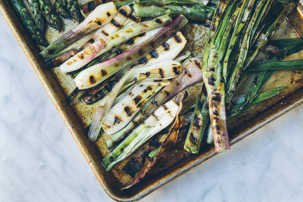 grilled hanger steak with asparagus, spring onions and preserved lemon relish via millys-kitchen.com