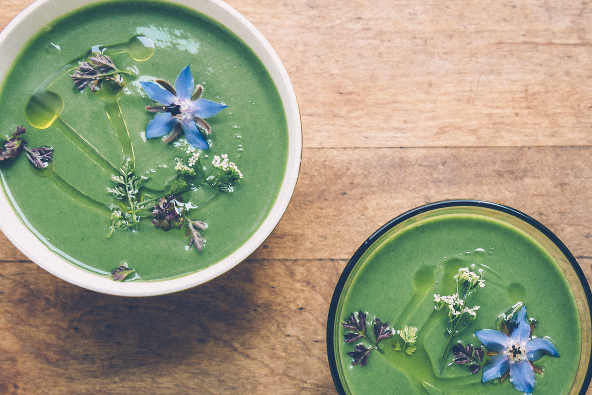 chilled spring greens soup on millys-kitchen.com