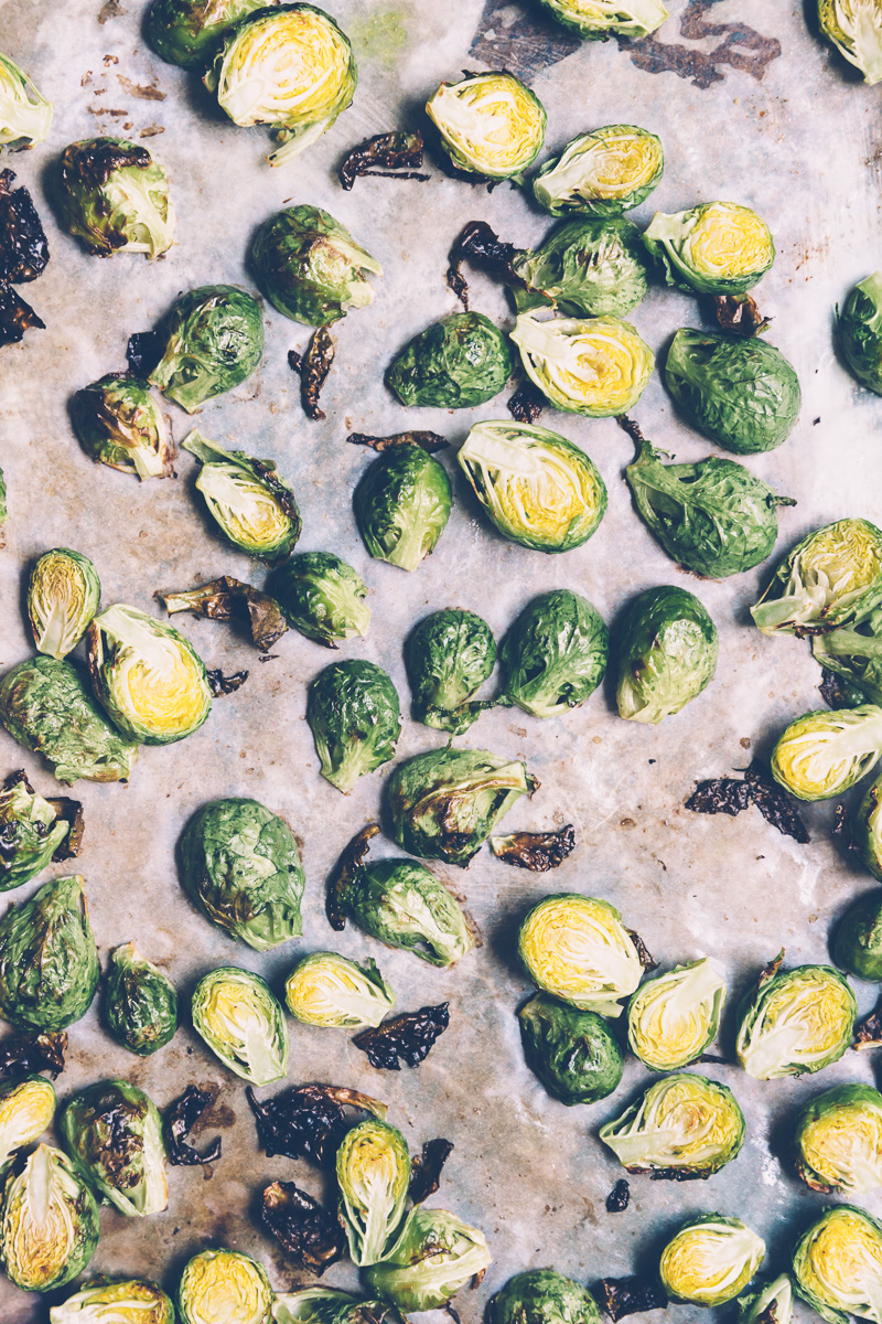 charred brussels sprout salad on millys-kitchen.com