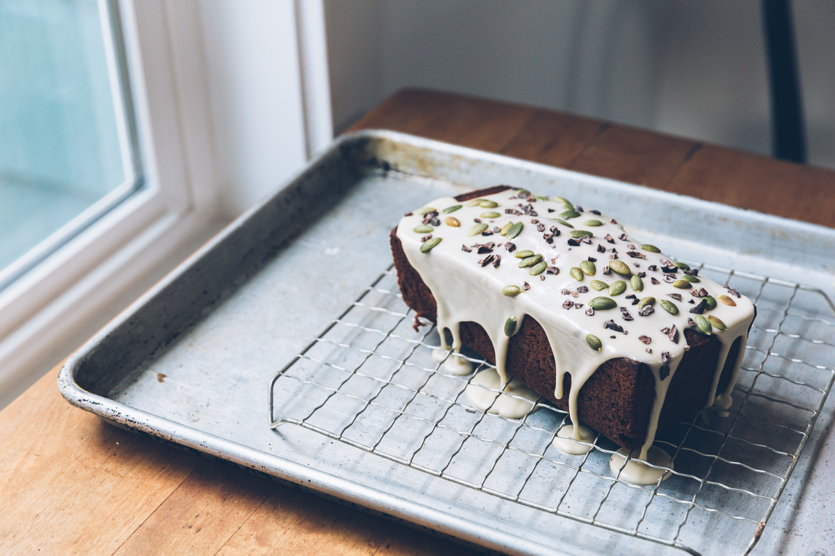 kuri squash and olive oil cake with dark chocolate on millys-kitchen.com