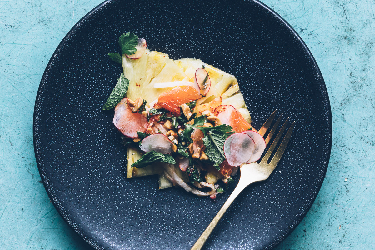 pineapple and jicama salad with chile-lime vinaigrette | millys-kitchen.com