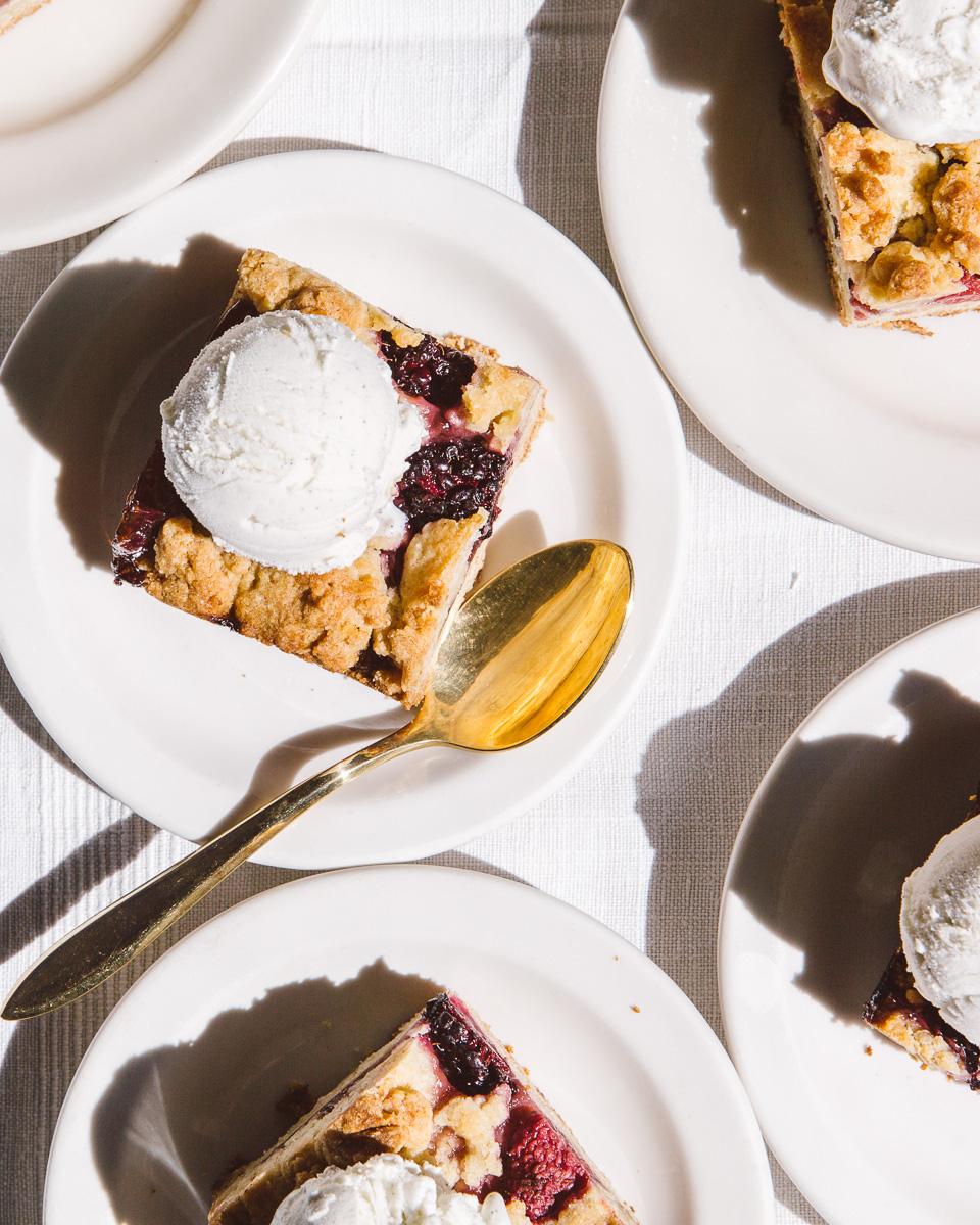 almond oat berry bars. Image/styling: Olaiya Land