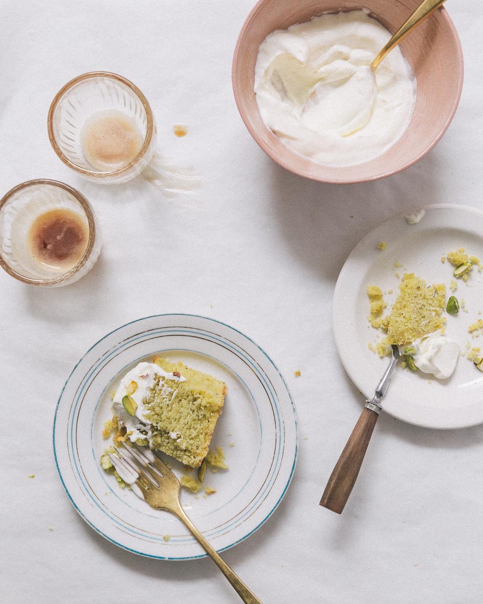 orange pistachio semolina cake || Image: Olaiya Land