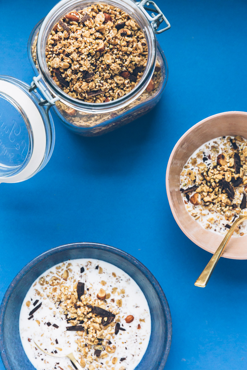 Buckwheat Granola with Tahini and Dark Chocolate // Image: Olaiya Land