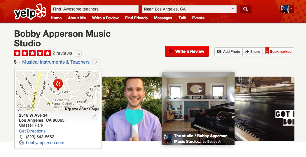 Bobby A Music Studio on Yelp!