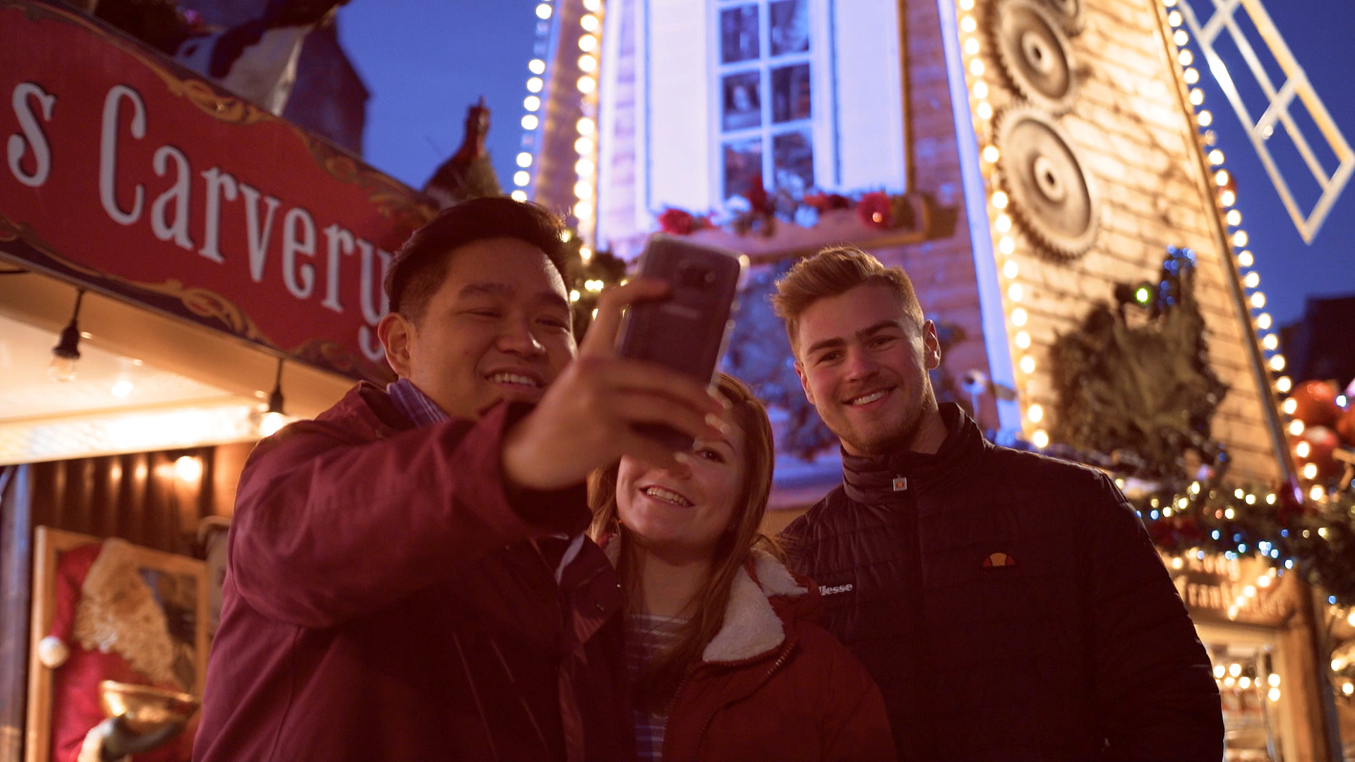 Cardiff Met Christmas promo - Video still
