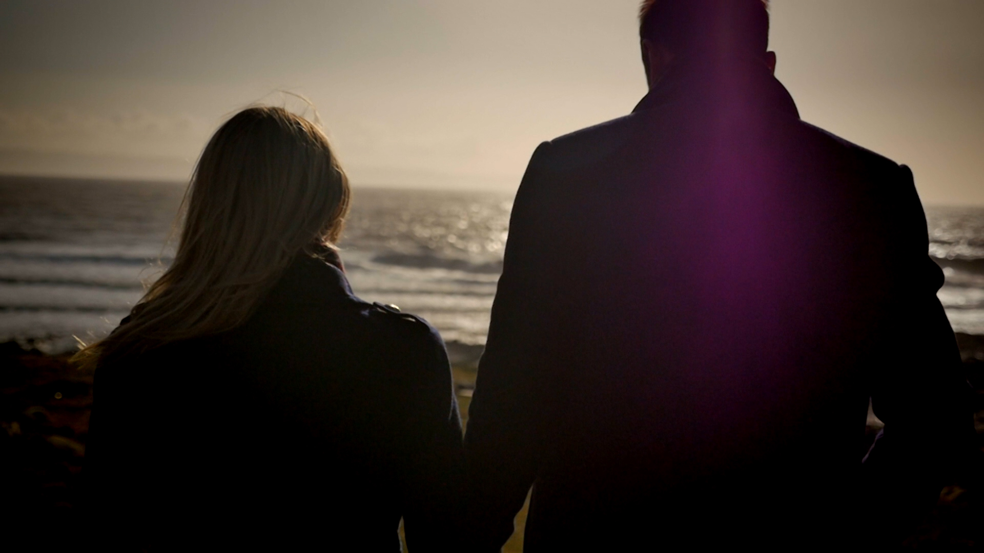 Couple sunset Beach video still