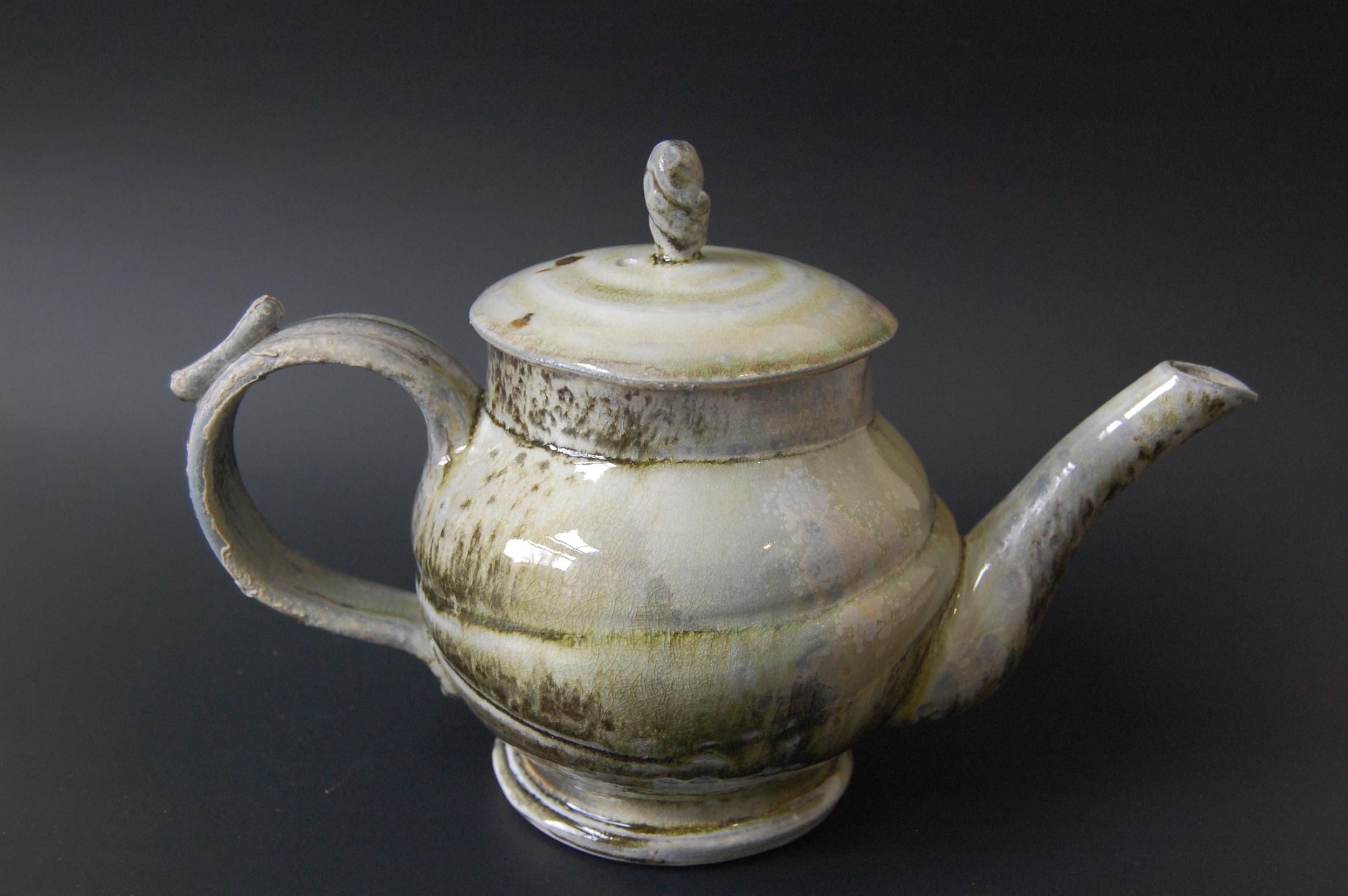 Speckled Wood Fired Tea Pot