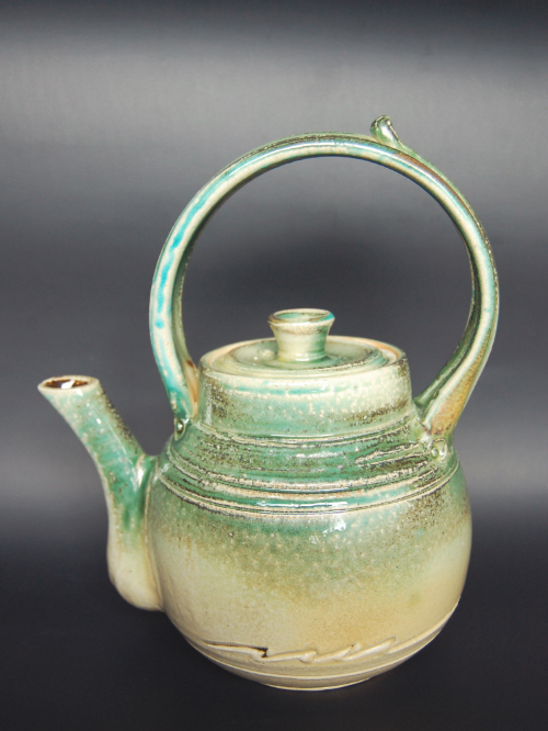 The soda fired teapot.