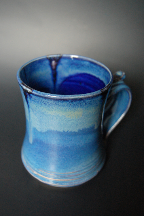 Experimenting with soda crystals in the glaze. Created some interesting effects!