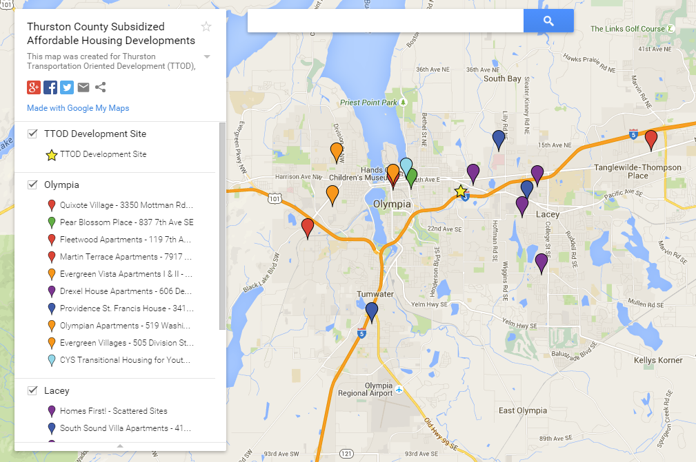 Interactive Affordable Housing Map of Thurston County