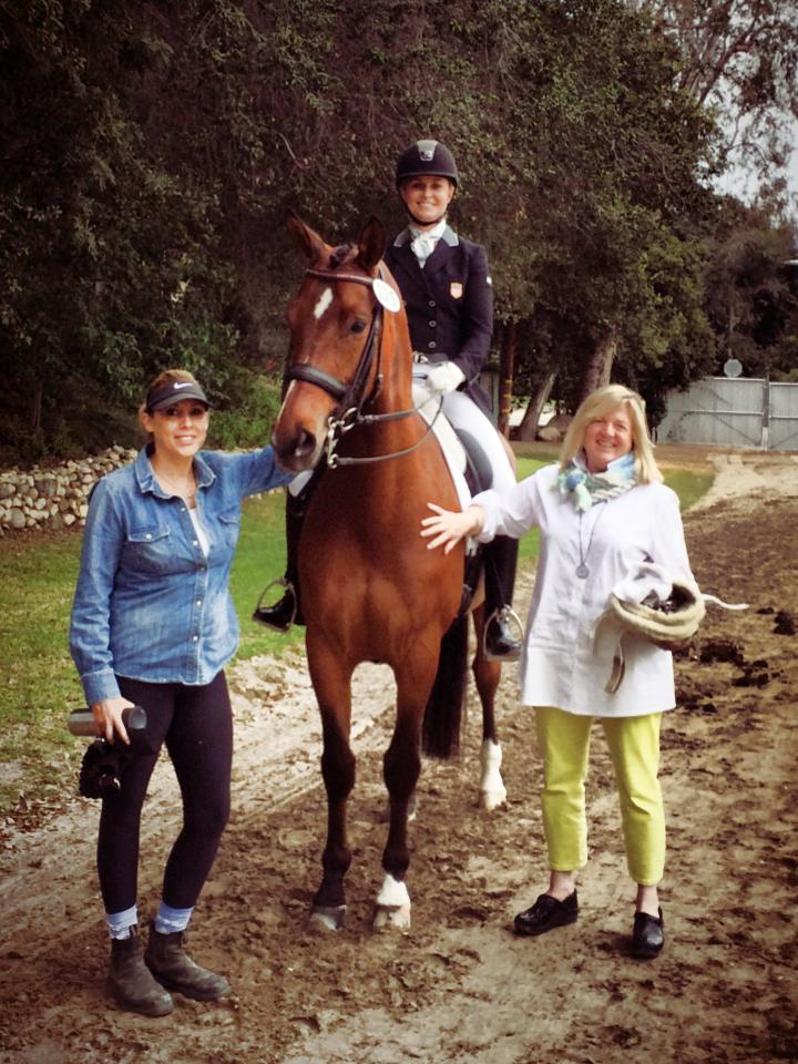 Wendiego with Cicely and his owner, Barbara Wachsman