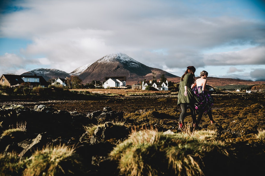 First Look - Isle of Skye, Scotland - Wedding Videographer - Wedding Photographer