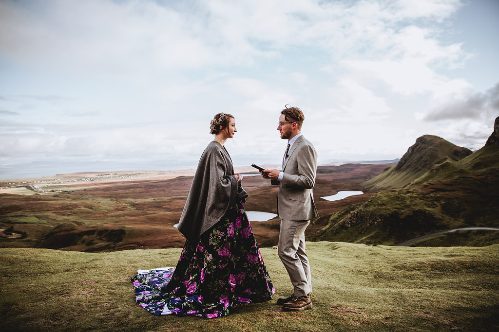 Quiraing Wedding Ceremony - Isle of Skye, Scotland - Wedding Videographer - Wedding Photographer