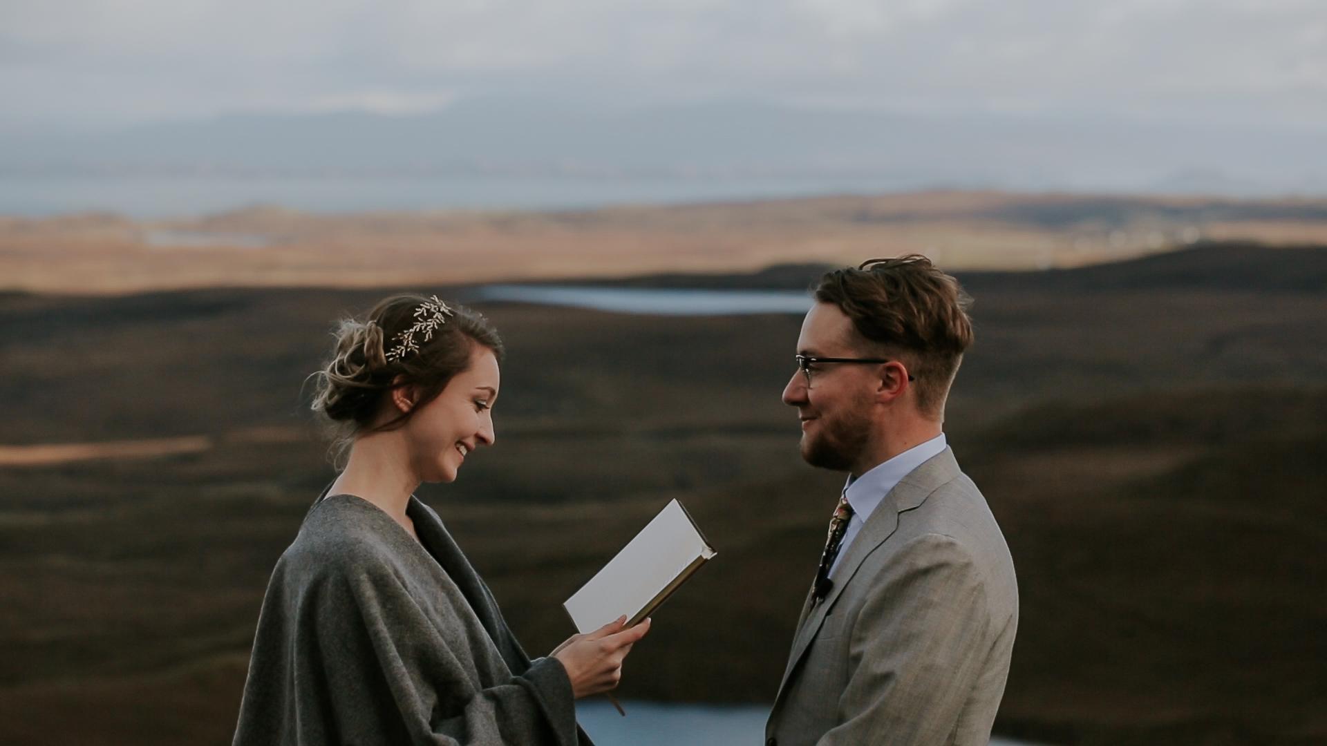 Quiraing Wedding Ceremony Isle of Skye Wedding Videographer