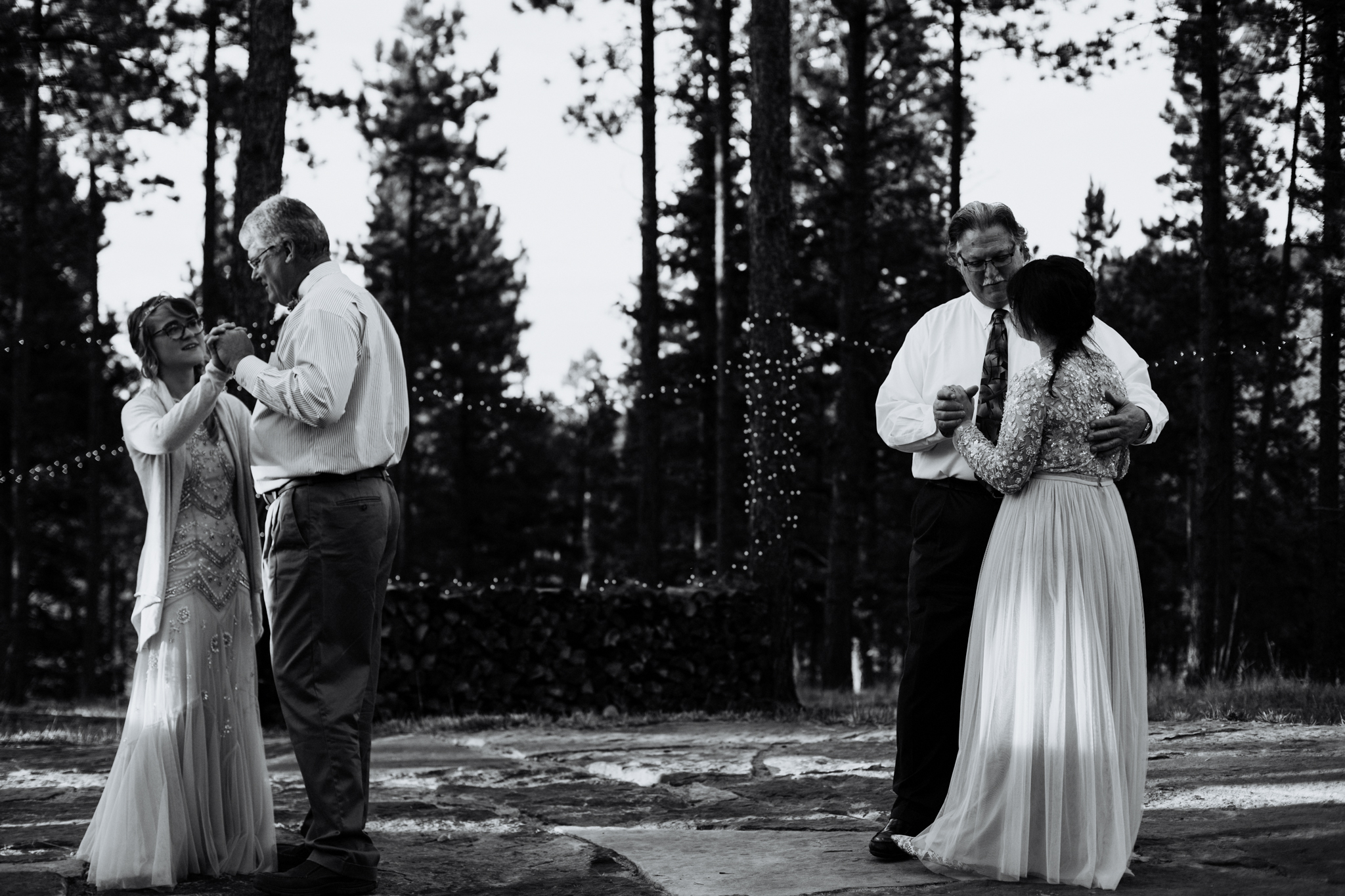 Taos New Mexico Elopement Photographer - tented backyard reception - first dance