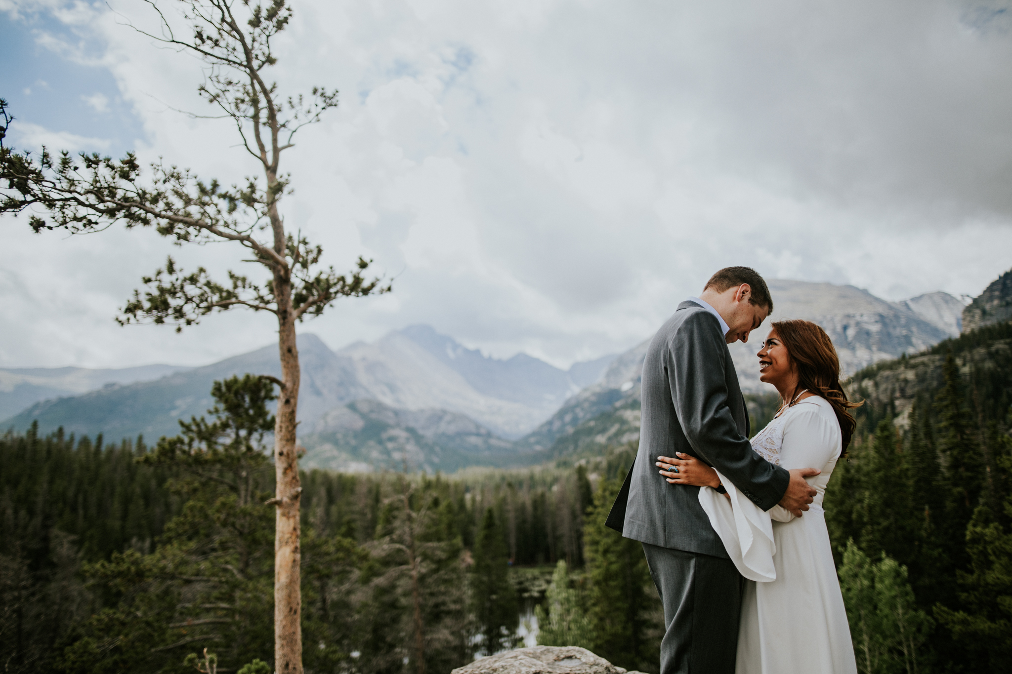 Destination Elopement Photographer - Vow of the Wild - Rocky Mountain National Park - Forest Elopement - Nymph Lake