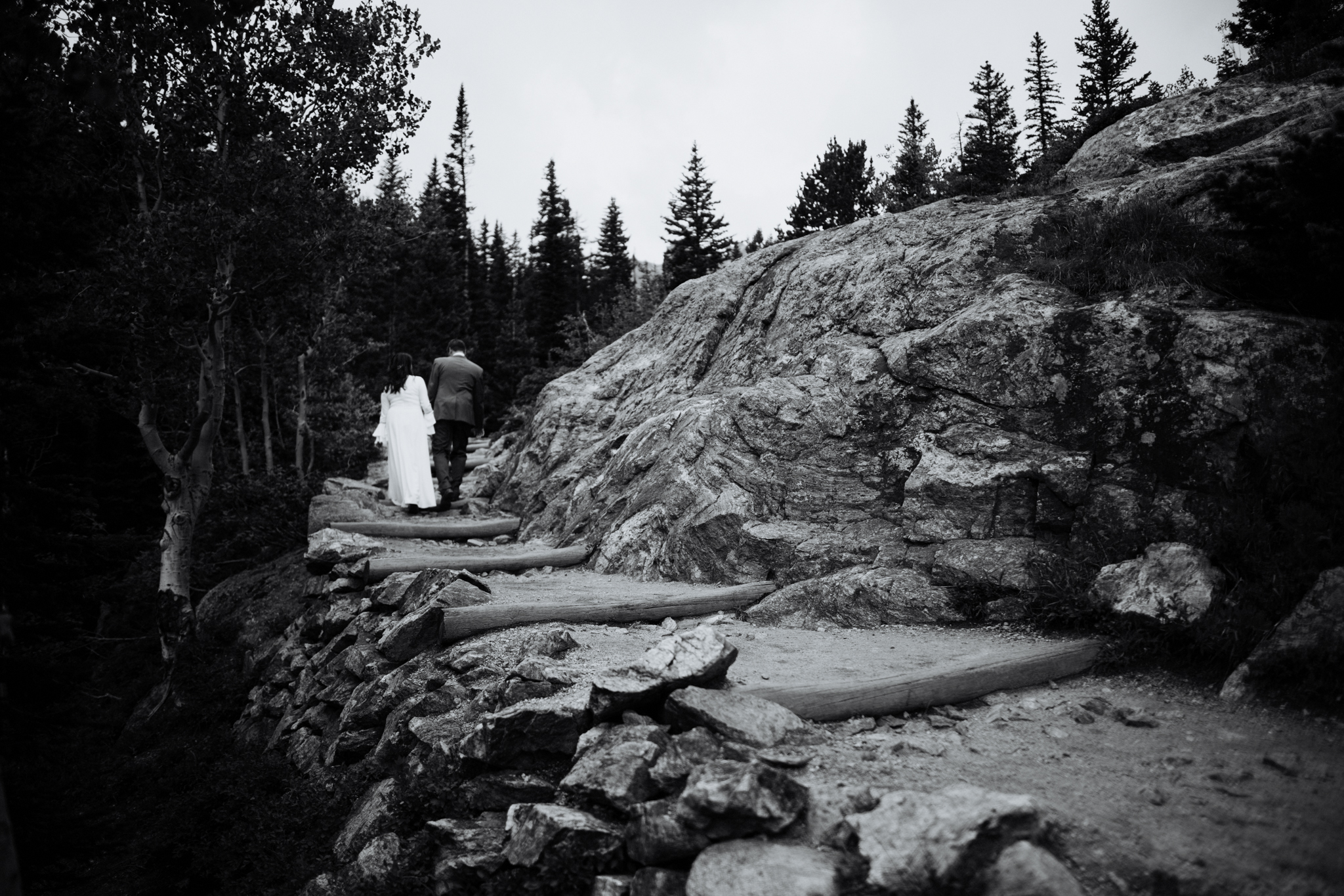 Destination Elopement Photographer - Vow of the Wild - Rocky Mountain National Park - Hiking Elopement - Dream Lake