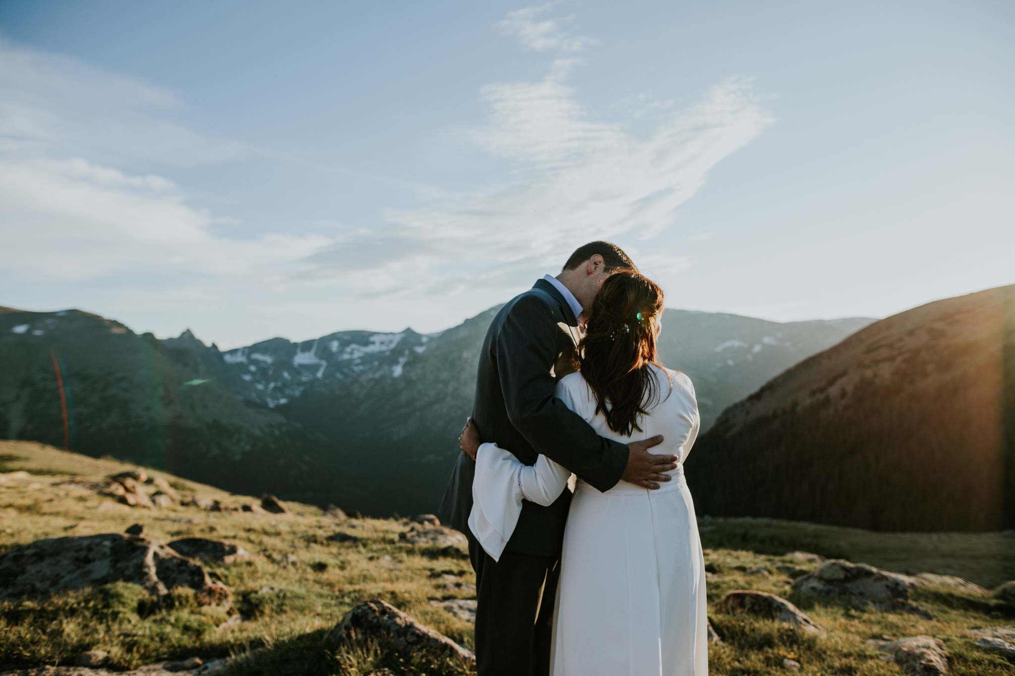 Destination Elopement Photographer - Vow of the Wild - Rocky Mountain National Park - Mountaintop Hiking Elopement - Trail Ridge Road Sunset