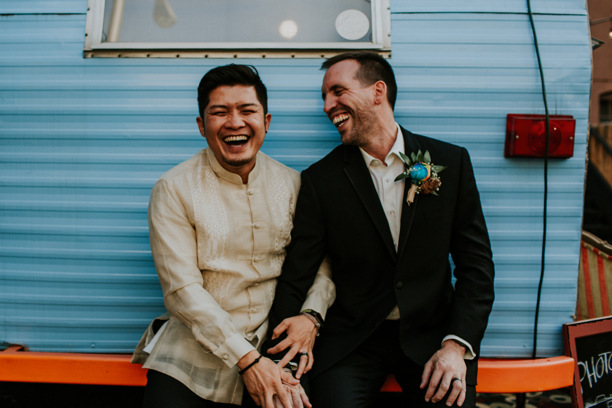 Same Sex Elopement Photographer - Reception Photo booth - Colorado Springs Destination Wedding