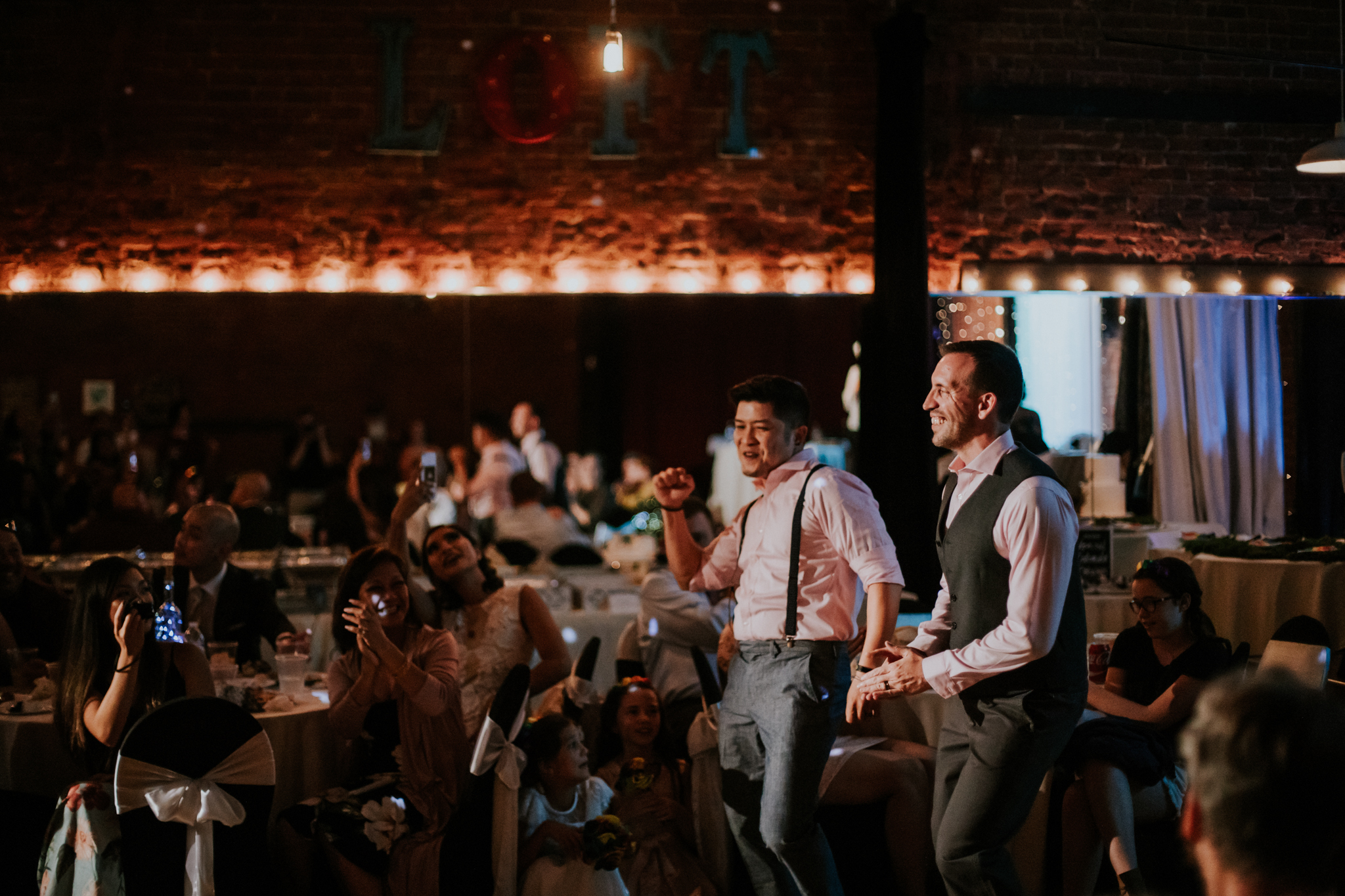 Same Sex Elopement Photographer - Reception Dancing - Colorado Springs Destination Wedding