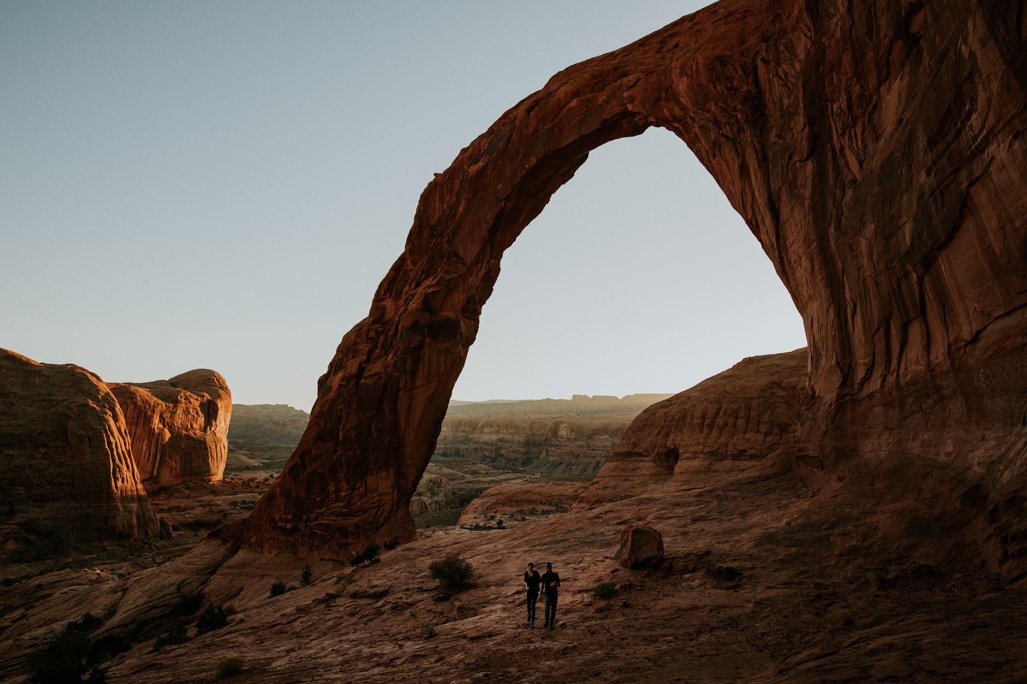 Corona Arch Sunset - Moab Elopement Photographer - Moab Elopement Videographer - Vow of the Wild