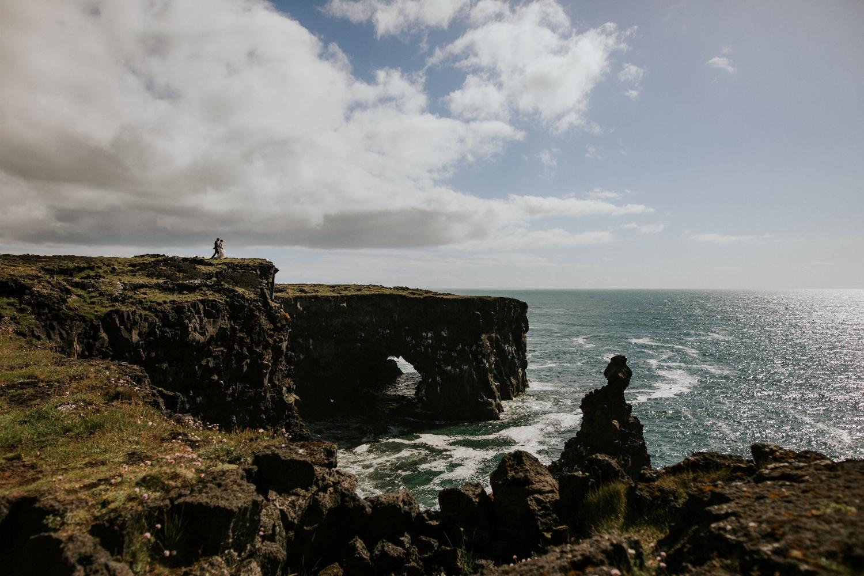 Iceland Wedding Photographer - Vow of the Wild - Snæfellsnes Peninsula Wedding - Lighthouse Cliffs