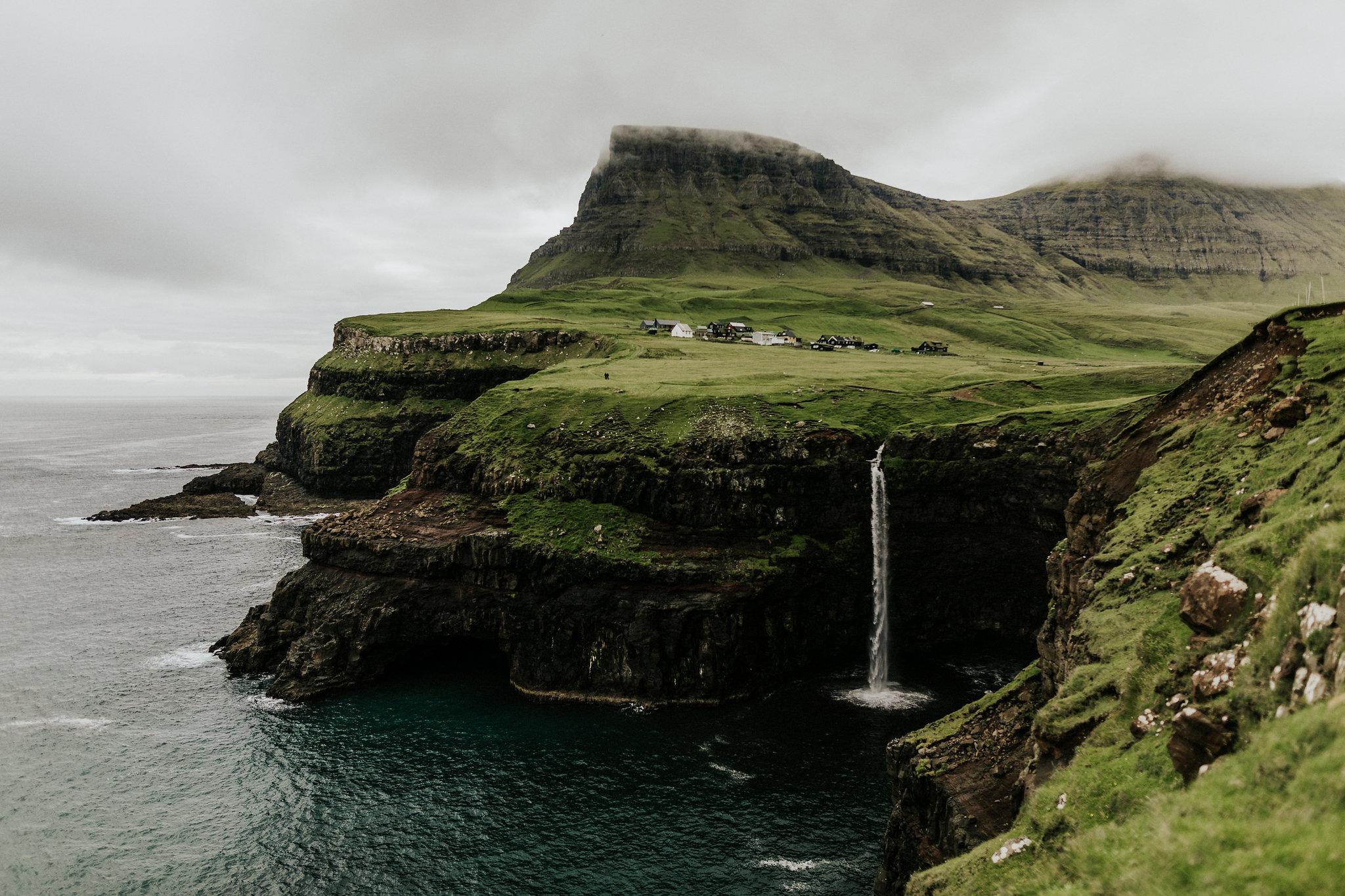 A waterfall in the Faroe Islands