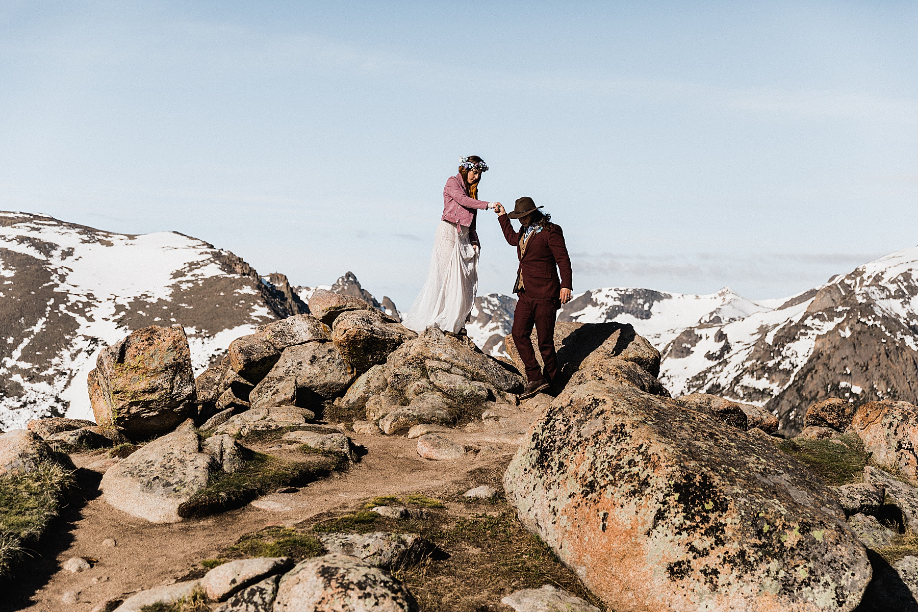 Sunrise Rocky Mountain National Park Elopement | Vow of the Wild