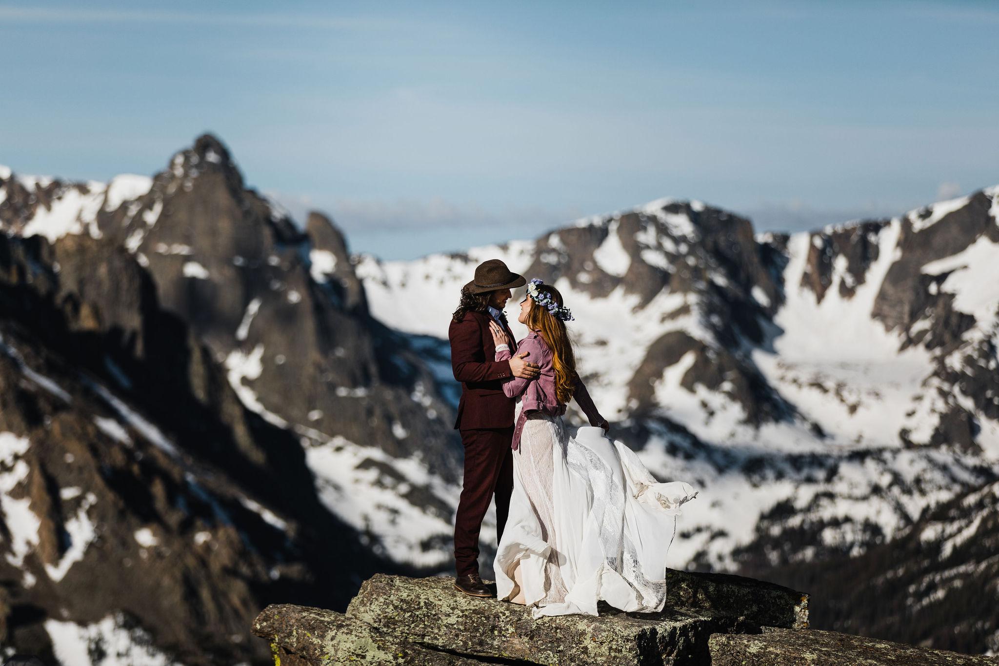 Lauren + Mitchel Rocky Mountain National Park   Elopement Photography