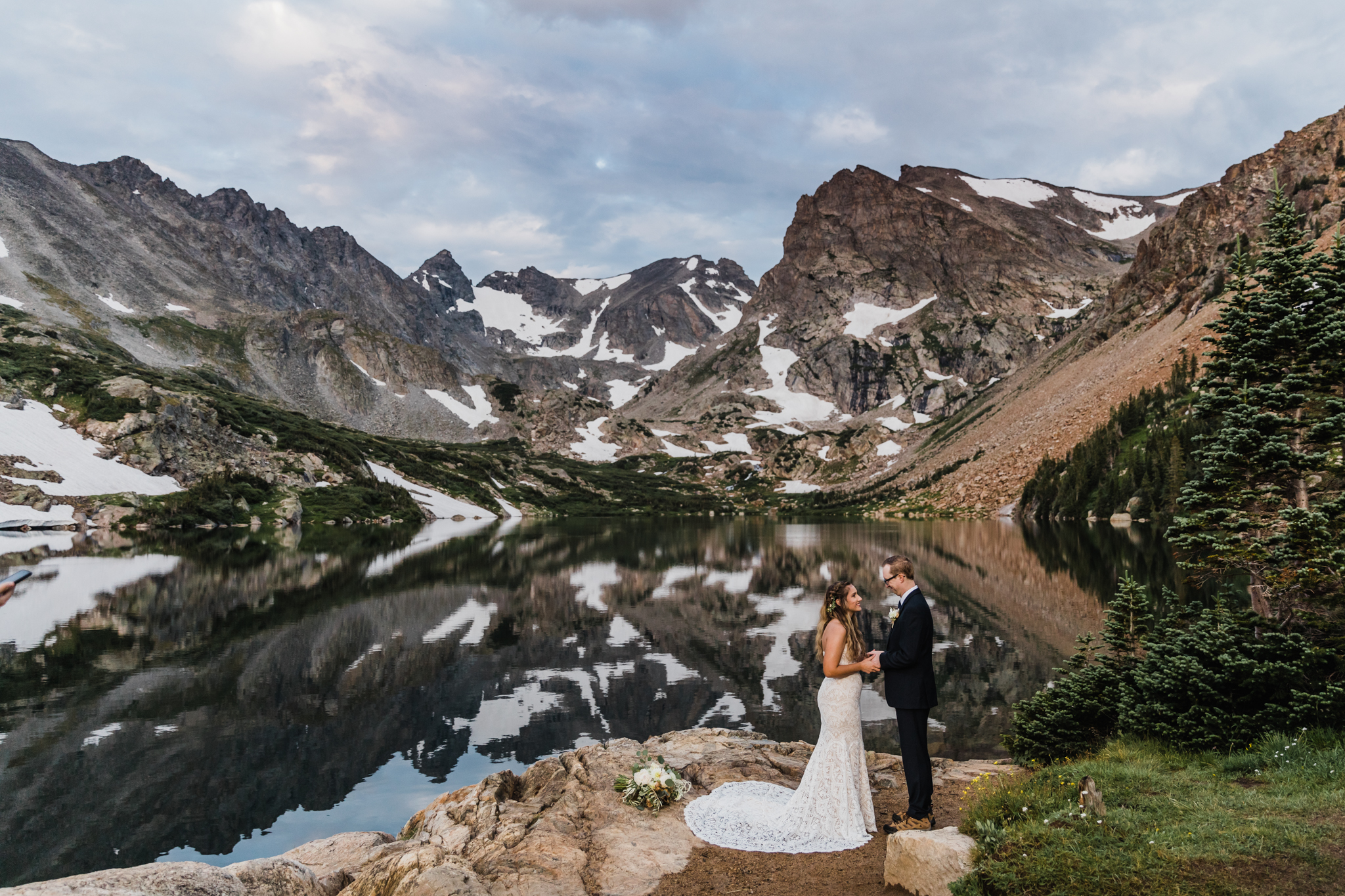 Colorado Elopement Photographer | Alpine Lake Hiking Elopement
