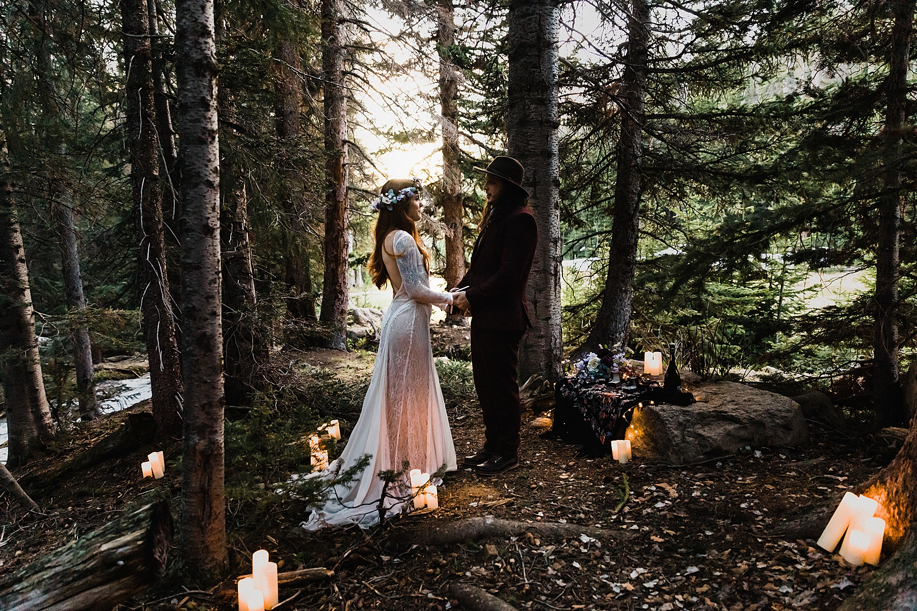 Colorado Elopement Photographer | Rocky Mountain National Park Forest Elopement