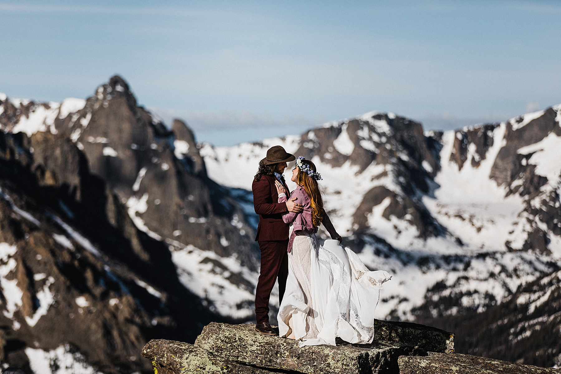 Colorado Elopement Photographer | Mountaintop Elopement