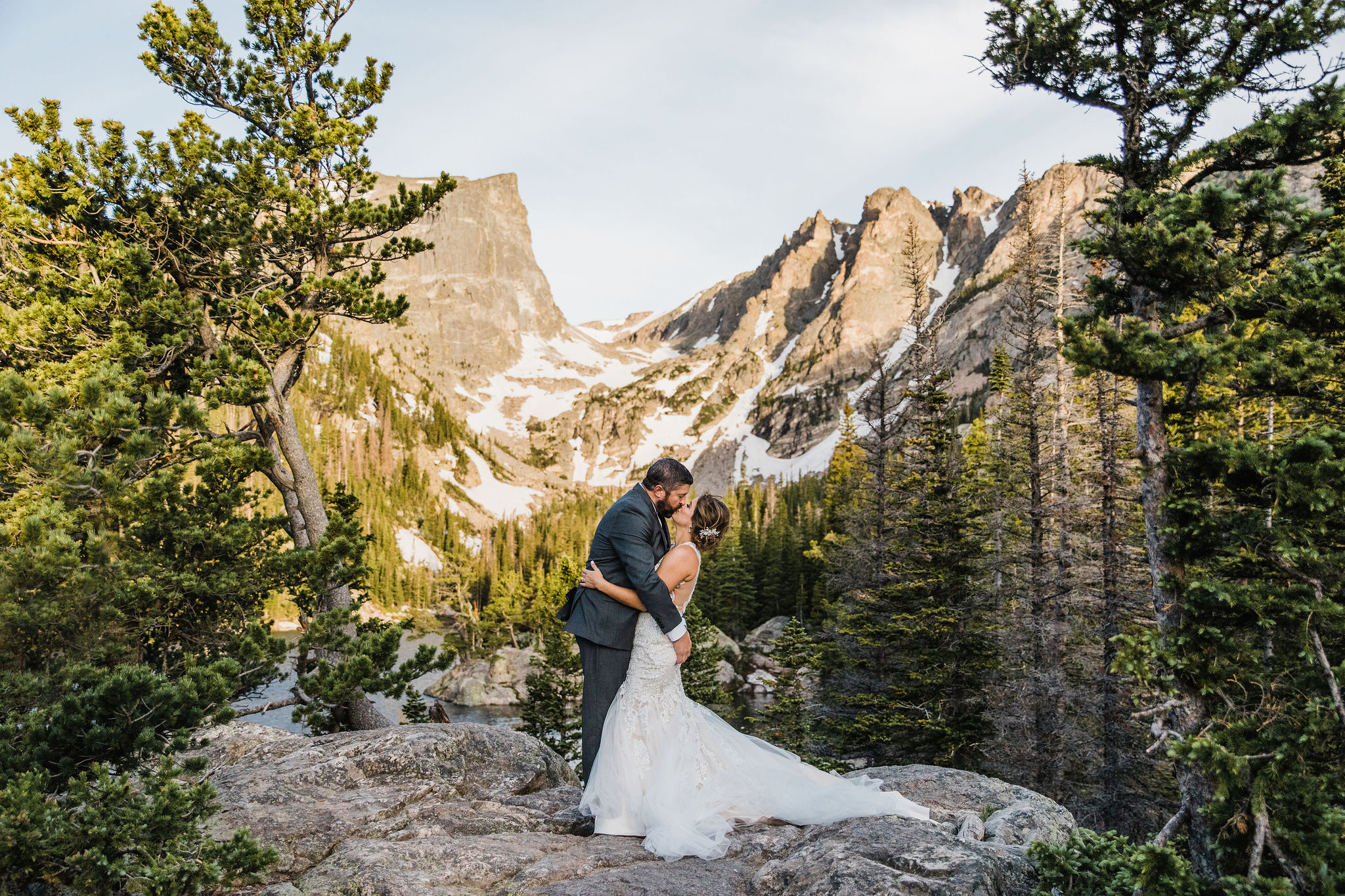 Colorado Elopement Photographer | Sunrise Alpine Lake Elopement