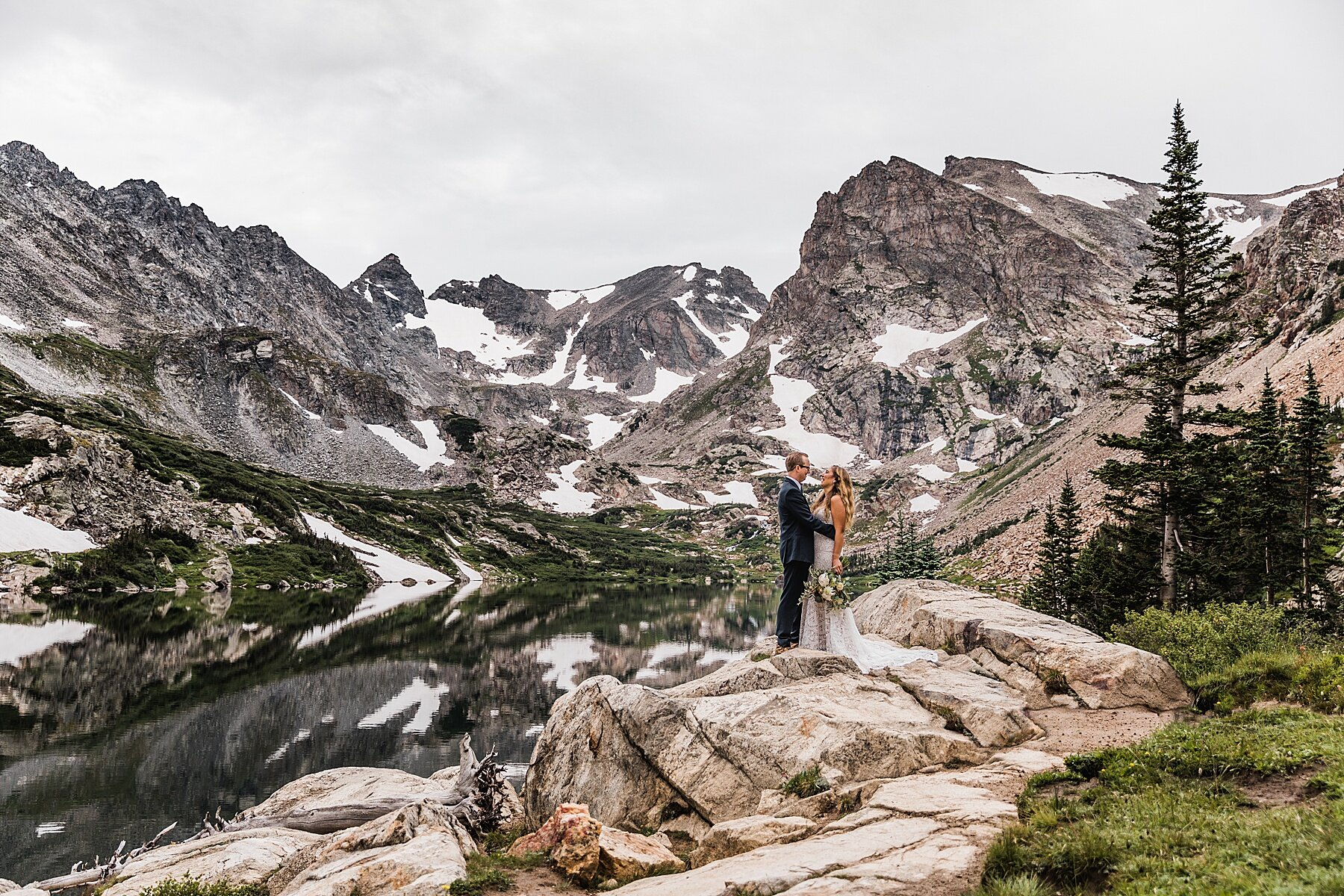 Sunrise Alpine Lake Elopement in the Mountains of Colorado | Vow of the Wild