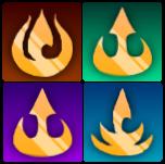 Fire Nation emblem sub badges for FireLordBrooke on Twitch