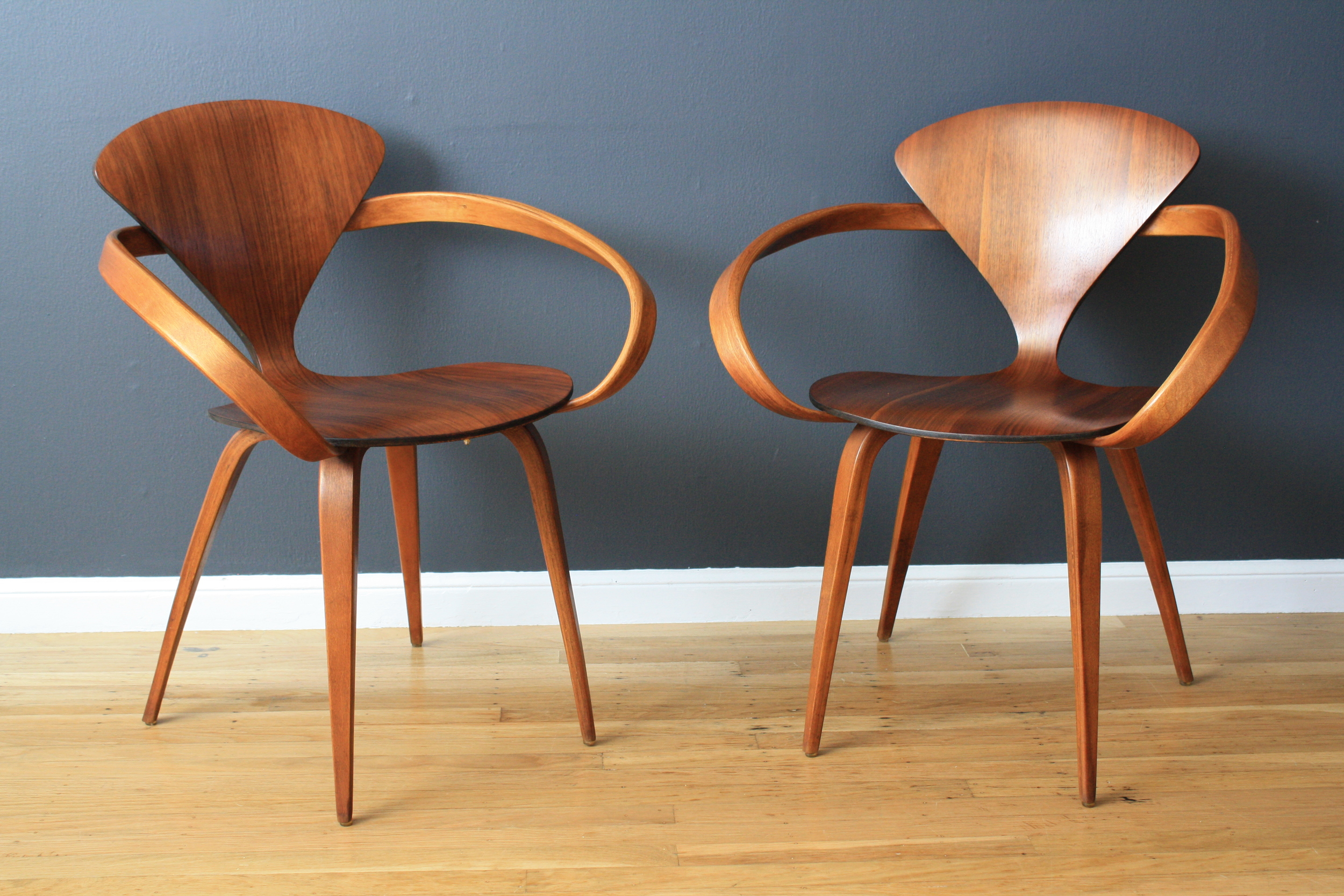 Pair of Vintage Cherner Pretzel Chairs