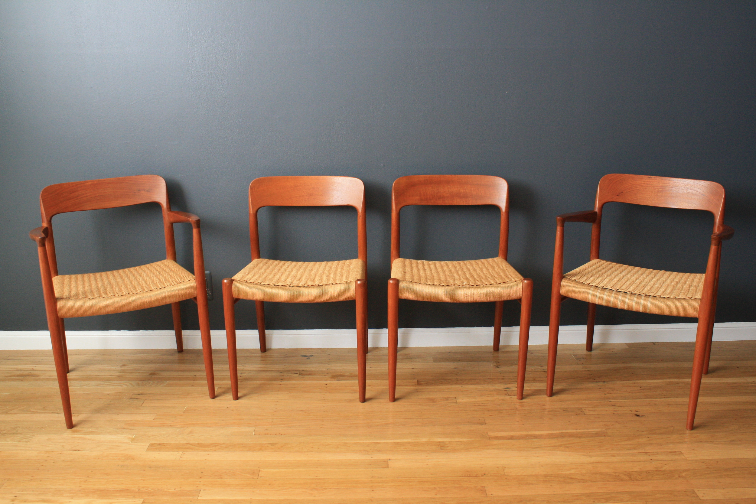 Set of Four Vintage Moller Dining Chairs