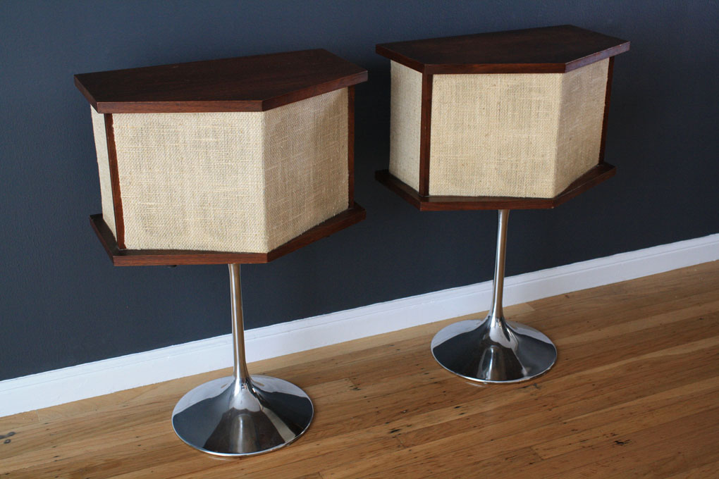 Vintage Mid-Century Bose Speakers