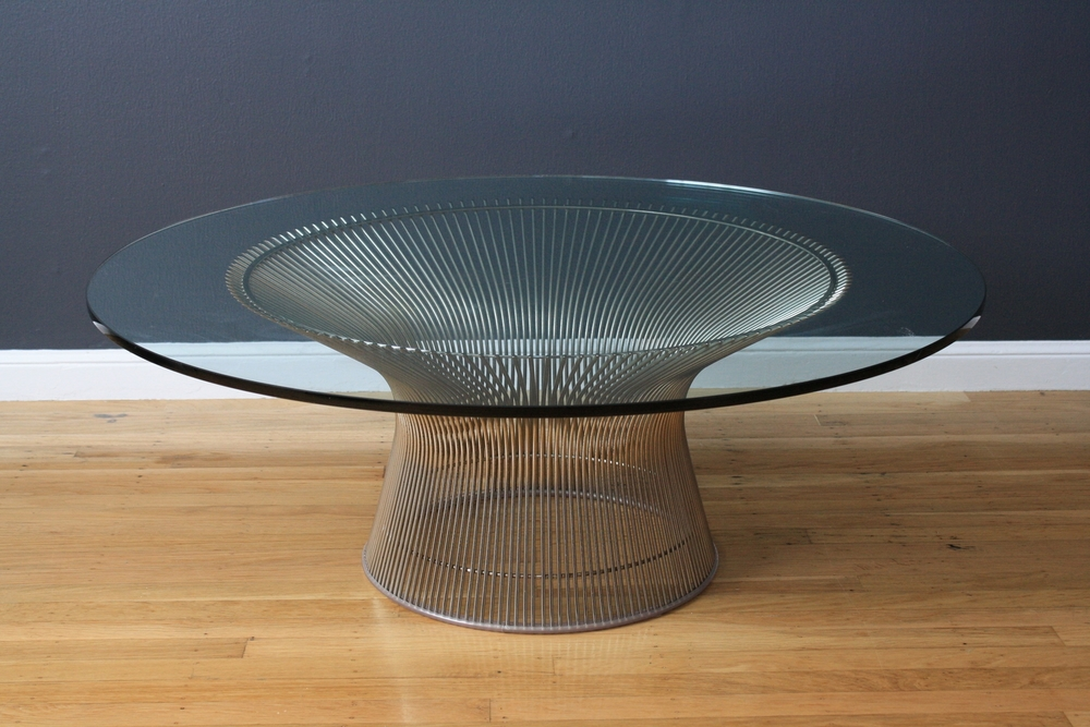 Vintage Mid-Century Coffee Table by Warren Platner for Knoll